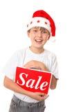 sprzedaży świątecznej Obraz Royalty Free