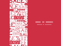 Sprzedaży bezszwowy deseniowy horyzontalny ramowy tło Zdjęcia Royalty Free