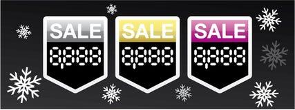 Sprzedaży bożenarodzeniowe cyfrowe etykietki Fotografia Royalty Free