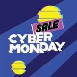 Sprzedaży cyber Poniedziałku concet Reklamować, online zakupy, sprzedaż i rabat w, sieć sklepie i interneta sklepie obraz stock