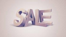 Sprzedaży 3d wiadomość tekstowa ilustracja wektor