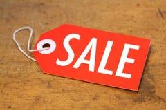 Sprzedaży etykietka fotografia stock