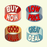 Sprzedaży etykietki ustawiać Zdjęcia Stock