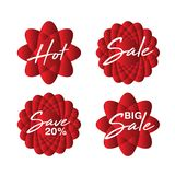 Sprzedaży ikona, kwiatu wektor, majcher, etykietka, guziki, etykietki, promocyjny sztandar, marketing, projektów elementy ilustracji