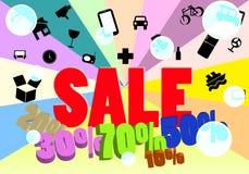 Sprzedaży ikony i wiadomości ładunku projekt Zdjęcia Stock
