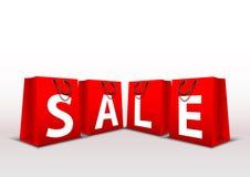 Sprzedaży ilustracyjna torba dla robić zakupy promocję w twój sklepie royalty ilustracja
