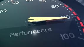 Sprzedaży, pracy zespołowej, stresu, występu, sukcesu, sppedometer lub wskaźnika konceptualna animacja, zbiory wideo
