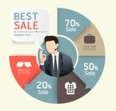 Sprzedaży promoci etykietki papieru szablonu nowożytny styl Obrazy Stock