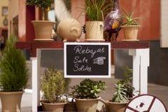 sprzedaży różowy kolor żółty Zdjęcie Royalty Free