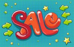 Sprzedaży ręki literowania projekt ilustracji