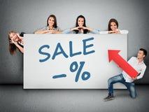Sprzedaży słowo na sztandarze Zdjęcie Stock