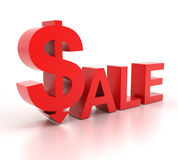 Sprzedaży słowo z dolarowym znakiem Zdjęcia Stock