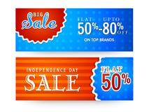 Sprzedaży sieci chodnikowowie dla Amerykańskiego dnia niepodległości, Obrazy Royalty Free