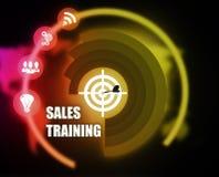 Sprzedaży szkolenia pojęcia planu grafika royalty ilustracja