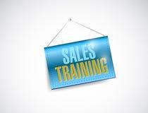 Sprzedaży szkolenia sztandaru znaka ilustracyjny projekt royalty ilustracja