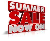 sprzedaży teraz lato Zdjęcia Royalty Free