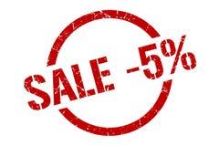sprzedaży -5% znaczek ilustracja wektor