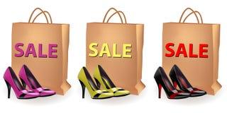sprzedaż buty Zdjęcia Royalty Free