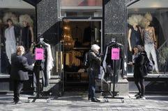 50% sprzedaż DLA tkaniny W KOPENHAGA DANI Obrazy Stock