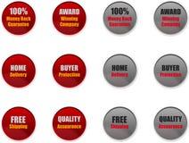 Sprzedaże & Marketingowe odznaki dla stron internetowych Zdjęcie Stock