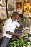 Sprzedaże owoc i warzywo na hindusa rynku Fotografia Stock