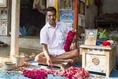 Sprzedaże owoc i warzywo na hindusa rynku Obrazy Royalty Free