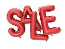 Sprzedaż jako czerwoni lotniczy balony ilustracja 3 d Zdjęcia Royalty Free