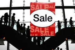 sprzedaż na zakupy do centrum handlowego Fotografia Stock