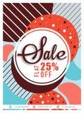 Sprzedaż plakat, sztandar lub ulotka projekt, Zdjęcie Royalty Free