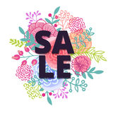 Sprzedaż plakat z procentu rabatem Zdjęcie Royalty Free