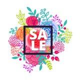 Sprzedaż plakat z procentu rabatem Zdjęcia Royalty Free