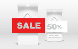 sprzedaż powystawowy stojak Fotografia Stock