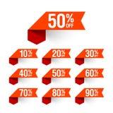 Sprzedaż, rabat etykietki Fotografia Stock