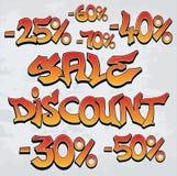 Sprzedaż, rabat/- graffiti ilustracji