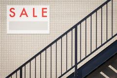 Sprzedaż Real Estate Podpisuje Obrazy Stock