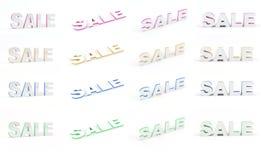 Sprzedaż set Obraz Stock