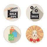 Sprzedaż set Obrazy Stock