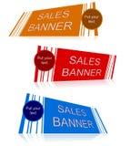 Sprzedaż sztandar z teksta polem Fotografia Royalty Free