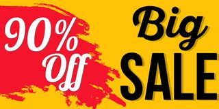 Sprzedaż sztandaru projekt Fotografia Stock