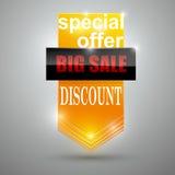 Sprzedaż sztandaru projekt zdjęcie royalty free