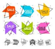 Sprzedaż sztandaru reklamy projekta Abstrakcjonistyczny set wektor Obraz Stock