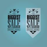 Sprzedaż sztandary Fotografia Royalty Free