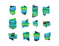 Sprzedaż sztandary Obrazy Stock