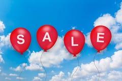 Sprzedaż tekst na balonie Zdjęcia Stock
