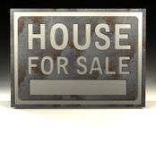 sprzedaż w domu znak informacyjny Zdjęcie Royalty Free