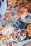 Sprzedaż wysuszony - owocowe i galaretowe fasole fotografia stock