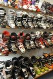 sprzedaży butów narta Zdjęcia Royalty Free