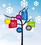 sprzedaży drzewa zima Zdjęcia Stock