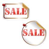 Sprzedaży etykietka, illutrsation Fotografia Stock