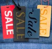 sprzedaży etykietki Zdjęcie Stock